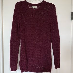 Anthropologie plum sweater